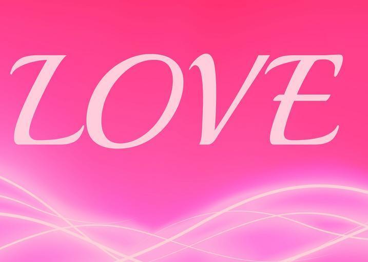 Láska, nápis, ružový motív