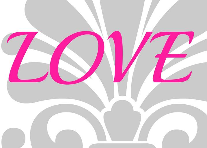 Love, láska, grafický dizajn